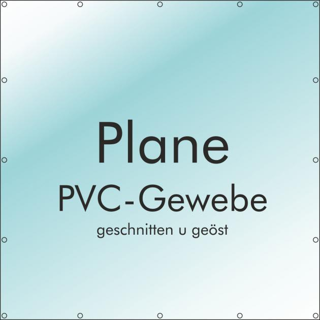 Plane 100 x 100 cm PVC 510 g/m² mit B1