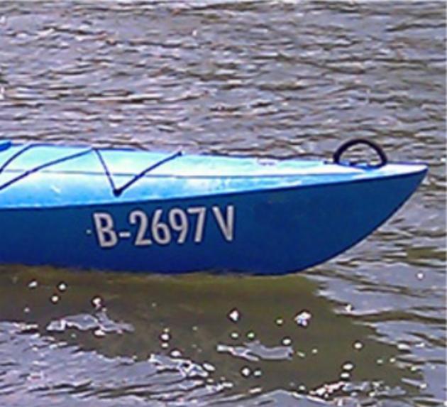 Bootsnummer 10 cm hoch